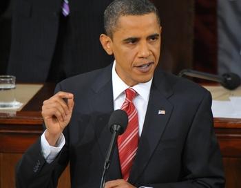 Президент США Барак Обама выступил в Конгрессе с обращением. Фото:  MANDEL NGAN/AFP/Getty Images
