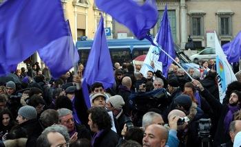 """Сотни судей по всей Италии в субботу бойкотировали официальное начало """"судебного года"""". Фото:  TIZIANA FABI/AFP/Getty Images"""