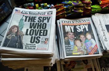 Анна Чапман  (Anna Chapman) вызвала опасения британской разведки. Фото: EMMANUEL DUNAND/AFP/Getty Images