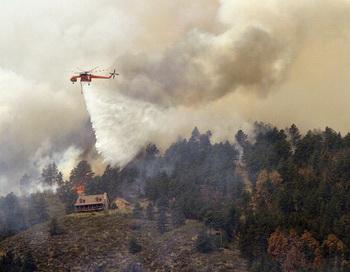 Пожары в штате США Колорадо не утихают. Фото: Marc Piscotty/Getty Images