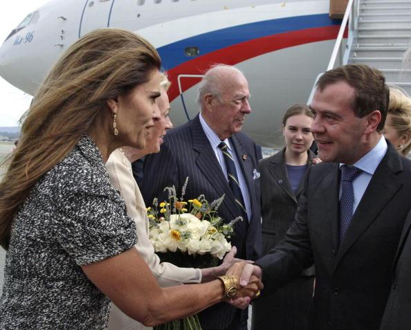Дмитрий Медведев прибыл  в США.  Фоторепортаж.  Фото: DMITRY ASTAKHOV/AFP/Getty Images