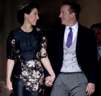 Дэвид Кэмерон с женой Самантой. Фото: KIERAN DOHERTY/AFP/GettyImages