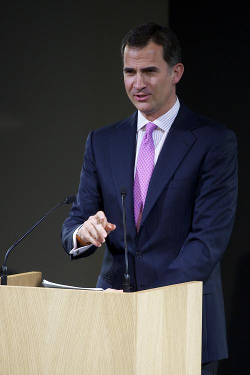 Принц Испании Фелипе принял участие в открытии  Espacio Fundacion Telefonica. Фоторепортаж.  Фото: Carlos Alvarez/Getty Images