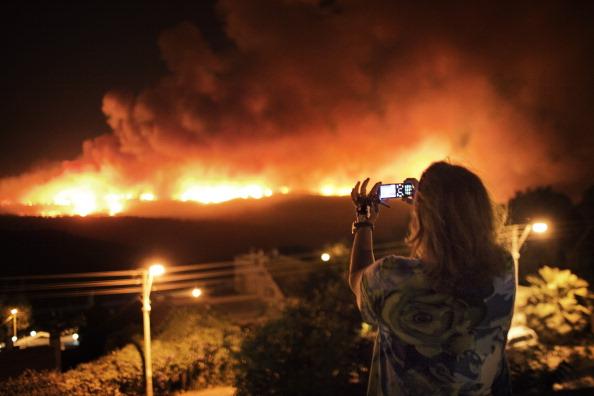 Пожар на Кармеле, близ Хайфы. Фоторепортаж. Фото Uriel Sina/JACK GUEZ/AFP/Getty Images