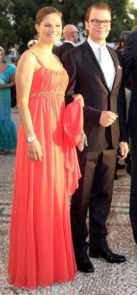 Гости на свадьбе принца Греции Николаоса и Татьяны Блатник. Принц Даниэл и принцесса Виктория из  Швеции. Фоторепортаж. Фото: Chris Jackson/Getty Images