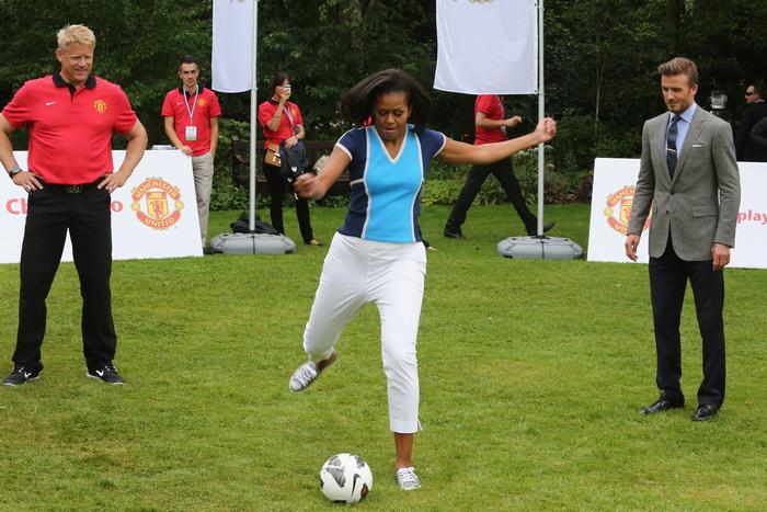 Мишель Обама утро начинает с занятий физкультурой. Фото: Tim Whitby/Getty Images For Nickelodeon