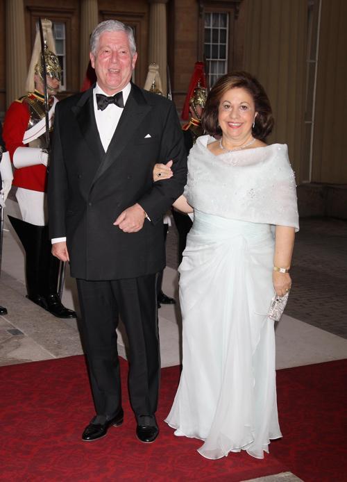 Монархи на приёме в Букингемском дворце по случаю юбилея правления королевы Елизаветы II. Принц и принцесса Югославии. Фоторепортаж. Фото: Sean Dempsey - WPA Pool/Getty Images