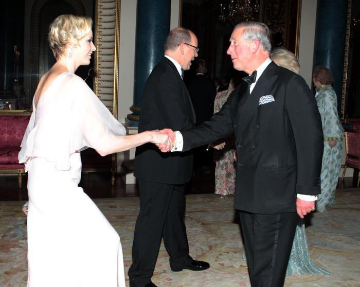 Принцесса Монако Шарлин на приёме в честь юбилея правления Елизаветы II в Букингемском дворце. Фоторепортаж. Фото: Sean Dempsey - WPA Pool/Getty Images