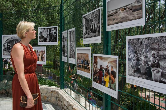 Принцесса и принц  Монако Шарлин  и Альберт II посетили мероприятие Красного креста. Фоторепортаж. Фото: Pascal Le Segretain/Getty Images