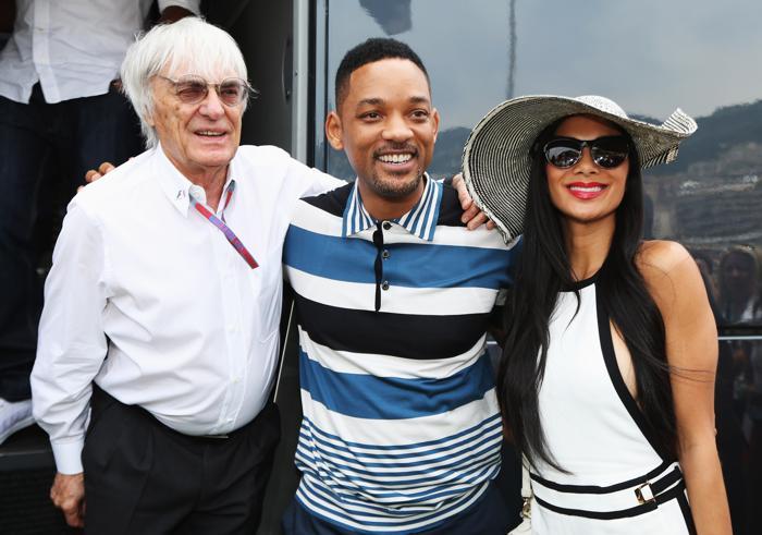 Знаменитости на Гран-при Монако. Bernie Ecclestone; Will Smith и Nicole Scherzinger. Фоторепортаж. Фото: Clive Mason/Getty Images