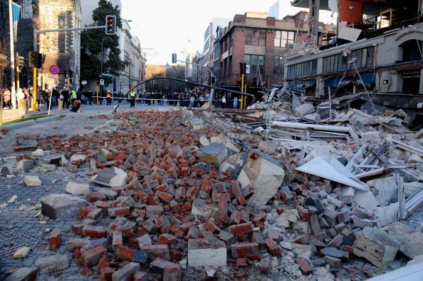 Землетрясение в Новой Зеландия повергло жителей города Крайстчёч в ужас. Фоторепортаж. Фото: Joseph Johnson/Getty Images