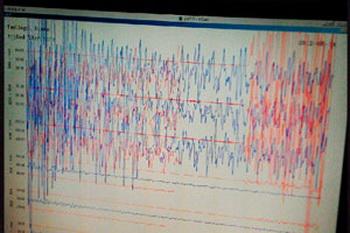 Землетрясение на Сахалине, данные сейсмостанции в Таштаголе. Фото с сайта vicmillion.tumblr.com