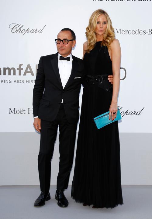 Знаменитости на мероприятии 2012 amfARs Cinema Against AIDS во Франции. Kylie Case; Gilles Mendel. Фоторепортаж. Фото: Andreas Rentz/Getty Images