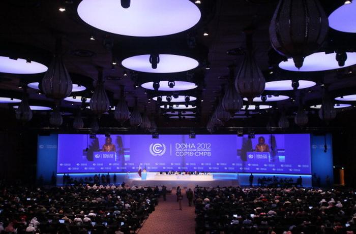 Конференция ООН по изменению климата открылась в Дохе. Фото:  KARIM JAAFAR/AFP/Getty Imags