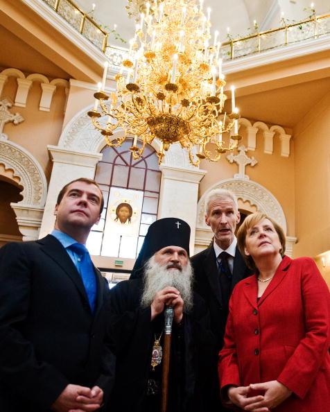 Медведев и Меркель встретились  в Екатеринбурге. Фоторепортаж. Фото: teffen Kugler/Bundesregierung-Pool via Getty Images