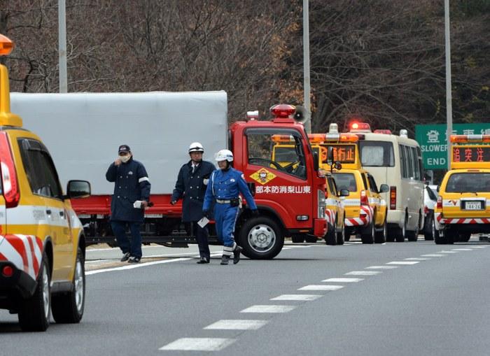 Фоторепортаж с места обрушения тоннеля в Японии. Фото: YOSHIKAZU TSUNO/AFP/Getty Images