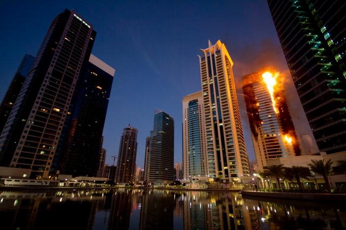 Пожар в Дубае. Фото: spiegel.de