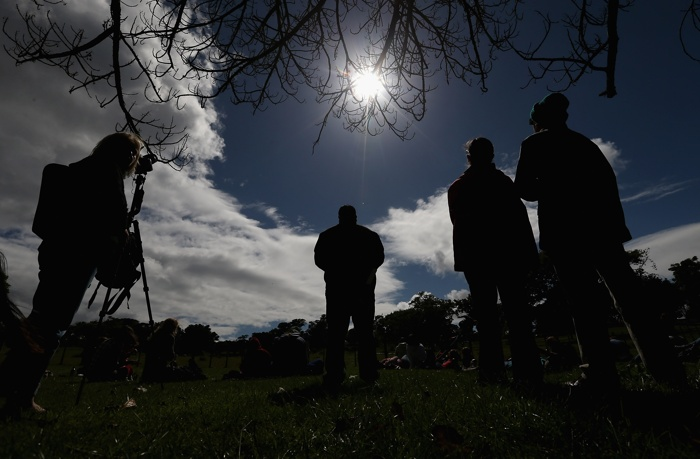 Солнечное затмение над Новой Зеландией. Фоторепортаж.  Фото:  Sandra Mu/Getty Images