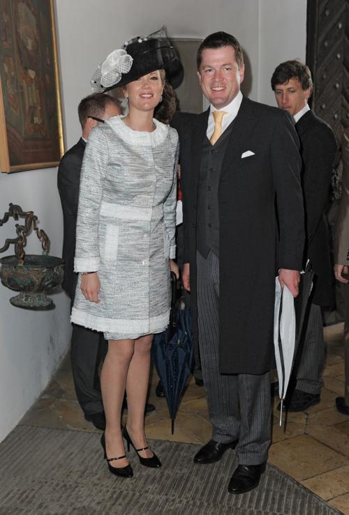 Гости  на свадьбе принцессы  Фелипы фон Бавария. Karl-Theodor zu Guttenberg and his wife Stephanie zu Guttenberg. Фоторепортаж. Фото: Hannes Magerstaedt/Getty Images
