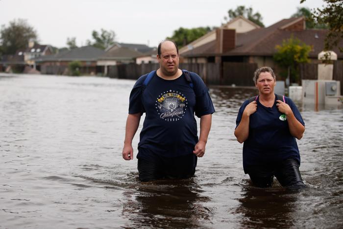 Наводнение в Луизиане, вызванное  ураганом Isaac. Часть 2. Фоторепортаж. Фото: Chris GraythenбMario Tama/Getty Images