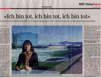 Интервью в газете Sonntagszeitung. Фото с сайта enlightenment.org