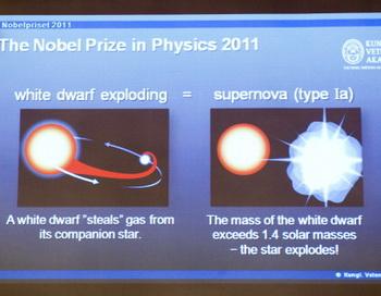 Нобелевской премией по физике отмечены ученые за изучение Вселенной. Фото: JONATHAN NACKSTRAND/AFP/Getty Images