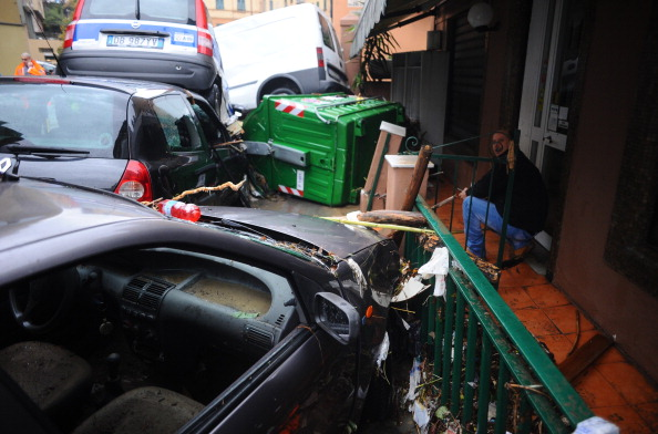 Наводнение в итальянской Генуе. Фото: MASSIMO CEBRELLI/AFP/Getty Images