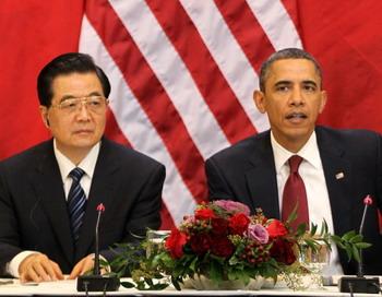 Ху Цзиньтао  о правах человека в Китае не стал говорить. Фото: Alex Wong/Getty Images