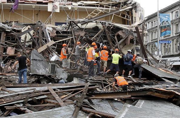 Крайстчерч, Новая Зелландия: мощное землетрясение привело к человеческим жертвам. Фоторепортаж. Фото: Martin Hunter/Getty Images