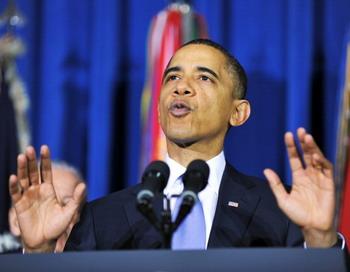 Конгресс США ратифицировал Договор по СНВ. Барак Обама выразил надежду, что  в новом 2011 году и демократы, и республиканцы смогут находить компромиссы при принятии  важных политических решений.  Фото: JEWEL SAMAD/AFP/Getty Images