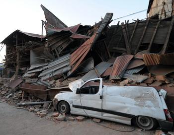 Землетрясение в Чили унесло жизни около 300 человек. Фото: Martin BERNETTI/AFP/Getty Images