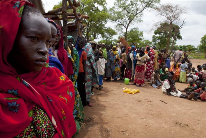 Лагерь беженцев в Южном Судане 30 июня 2012 г. Фото: Paula Bronstein/Getty Images