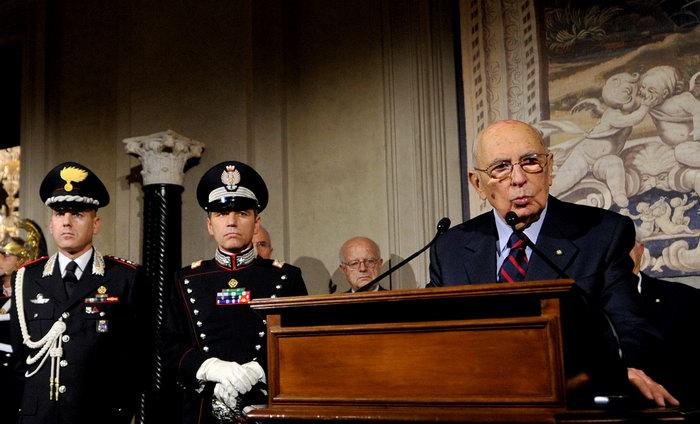 Джорджо Наполитано (R). Фото: TIZIANA FABI/AFP/GettyImages
