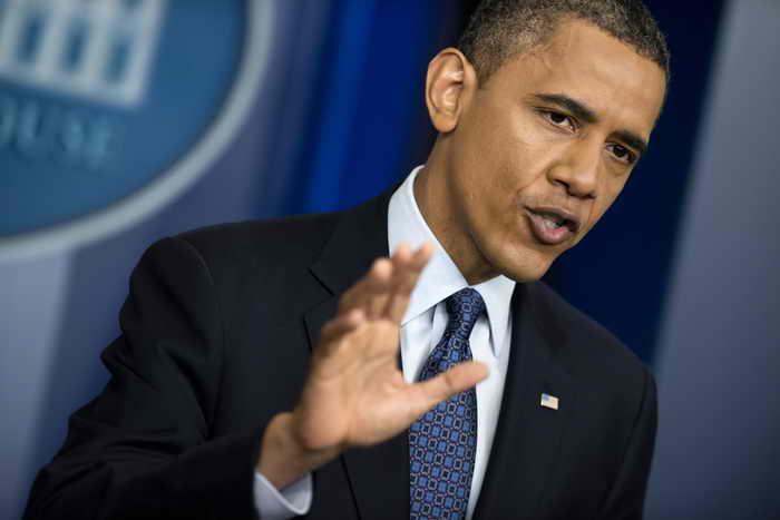 Президент США Обама запретил китайским предприятиям строительство ветряных электростанций поблизости от военно-морской базы. Фото: BRENDAN SMIALOWSKI/AFP/GettyImages