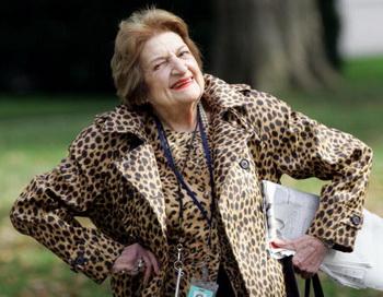 Одна из старейших журналисток Америки Хелен Томас. Фото: SAUL LOEB/AFP/Getty Images