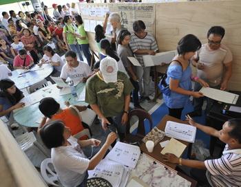 Выборы на Филиппинах. Фото: ROMEO GACAD/AFP/Getty Images