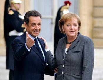 Николя Саркози и Ангела Меркель. Фото: ERIC FEFERBERG/AFP/Getty Images