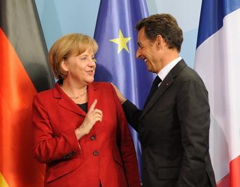 Ангела Меркель и Николя Саркози. Фото: ERIC FEFERBERG/AFP/Getty Images