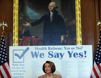 Палата представителей конгресса США одобрила законопроект президента США Барака Обамы о реформе здравоохранения. Фото: TIM SLOAN/AFP/Getty Images