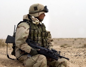 Солдат армии США в Кувейте. Фото: Scott Nelson/Getty Images
