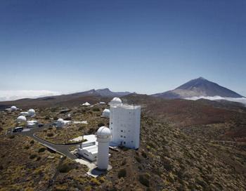 Телескоп «Грегор» начал изучать Солнце с вершины вулкана Тейде на Канарских островах. Фото: AFP/Getty Images