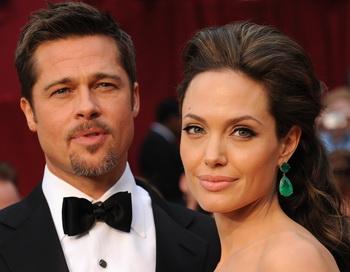 Звёздная пара Анджелина Джоли и Брэд Питт. Фото: Robyn Beck/AFP/Getty Images