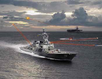 ВМС США провели испытания корабельной лазерной пушки. Фото с сайта bratishka.ru