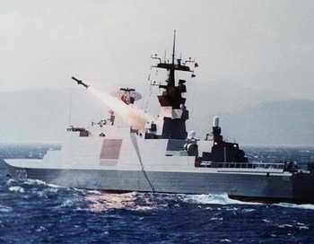 Ракетный фрегат. Фото: POOL/AFP/Getty Images