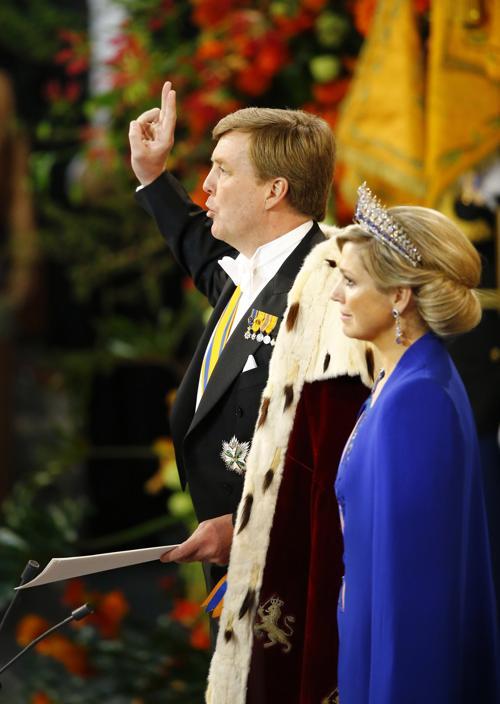 Официальная церемония приведения короля к присяге состоялась в Нидерландах. Фото: Michael Kooren-Pool/Getty Images