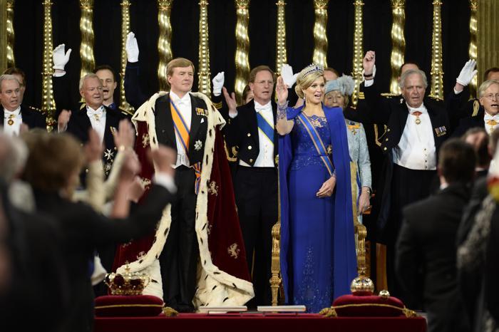 Официальная церемония приведения короля к присяге состоялась в Нидерландах. Фото: Lex Van Lieshout - Pool/Getty Images