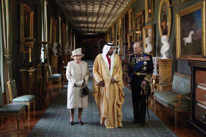 Президент ОАЭ прибыл с визитом к королеве Елизавете II в Винздор. Фото: Oli Scarff/Getty Images