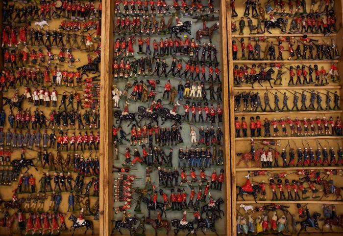 Крупнейшая в Европе коллекция игрушечных солдатиков на выставке Toy Soldier Show 30 июня 2012 года в Лондоне. Фото: Harry Engels/Getty Images