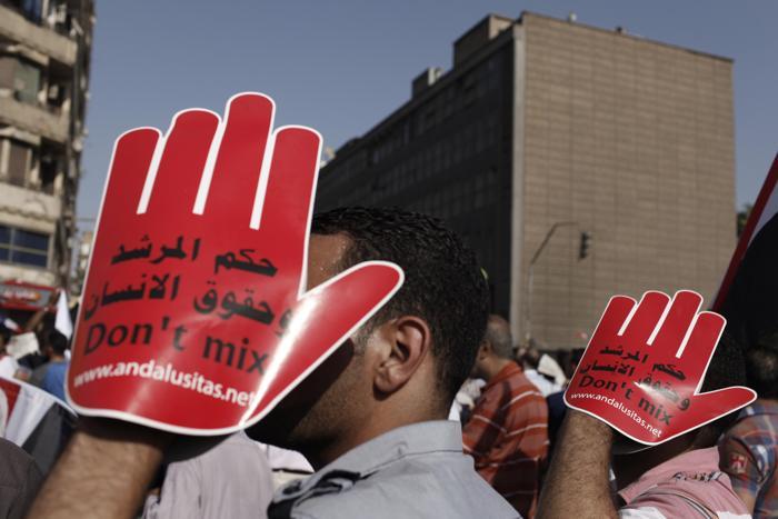 Около 17 миллионов человек вышли на площади Египта 30 июня 2013 года, требуют свержения президента Мухаммеда Мурси. Фото: Ed Giles/Getty Images