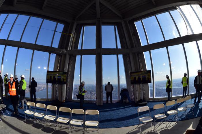 Строящийся в Нью-Йорке небоскрёб откроет смотровую площадку на 100 этаже. Фото: STAN HONDA / AFP / Getty Images